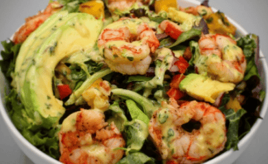 Patagonian Shrimp Salad with Citrus Thyme Dressing