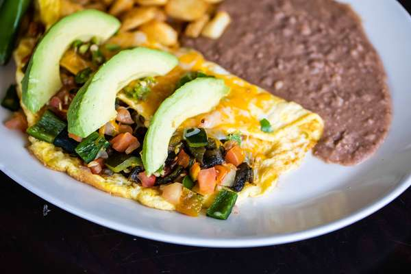 Spicy Poblano Omelettes