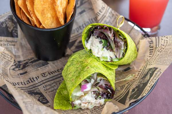 Almond and Cranberry Chicken Salad Wrap