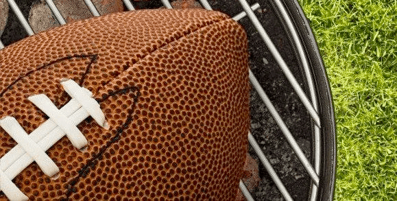 football and bbq