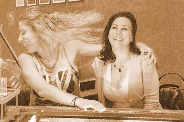 Women enjoying their time at Sporting Life Bar