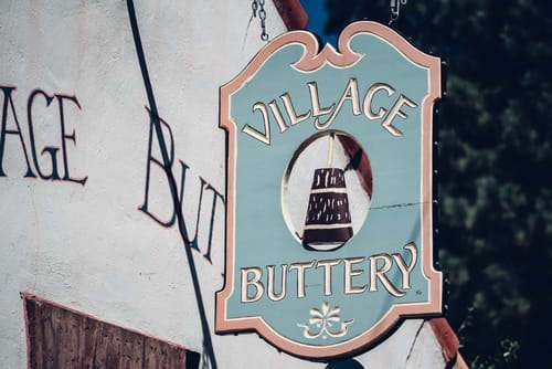 village buttery sign