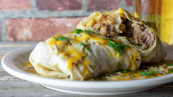 Sunday Monster Pork Wet Burrito