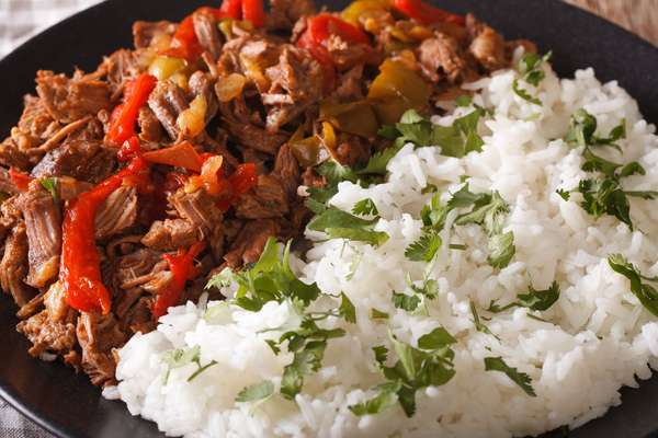 entree with rice