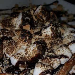 smores dessert close up