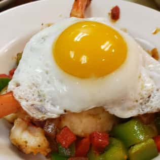 egg dish close up