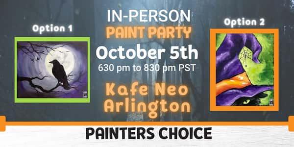 Halloween Painters Choice Paint Night