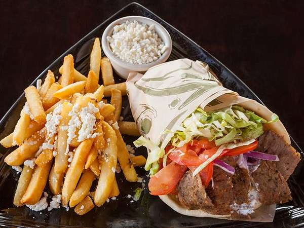 Traditional Gyro W/Greek Fries