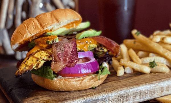 Chicken, Bacon & Avocado Burger*