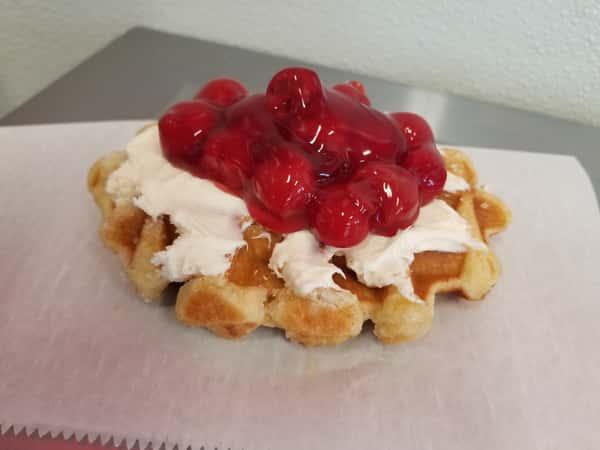 Cherry Cheesecake Waffle