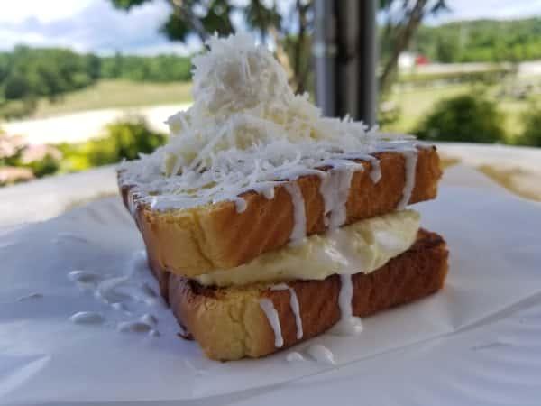 Coconut Cream Stuffed French Toast