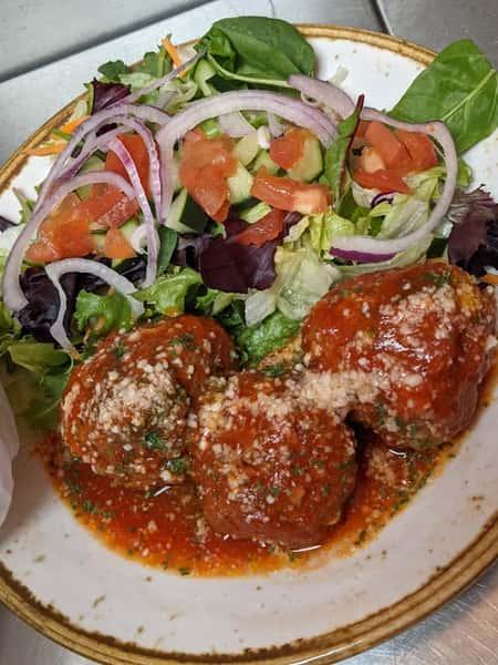 meatball and salad