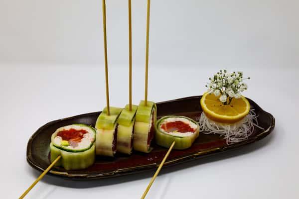 sushi on skewers