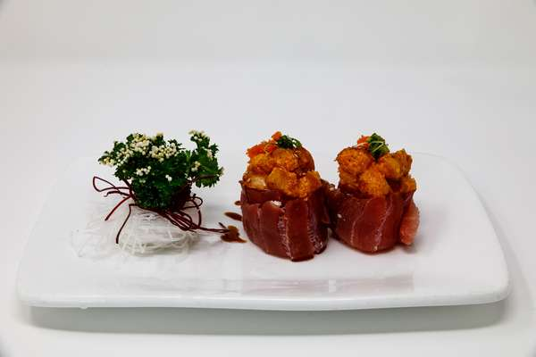 two sushi pieces