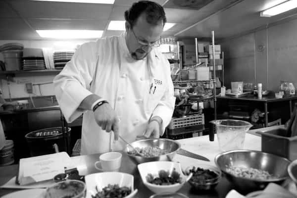 Chef preparing meals