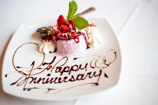 happy anniversary dessert