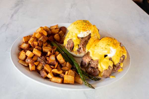 NY steak and eggs