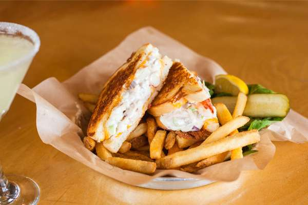 Dungeness Crab and Cheddar Melt