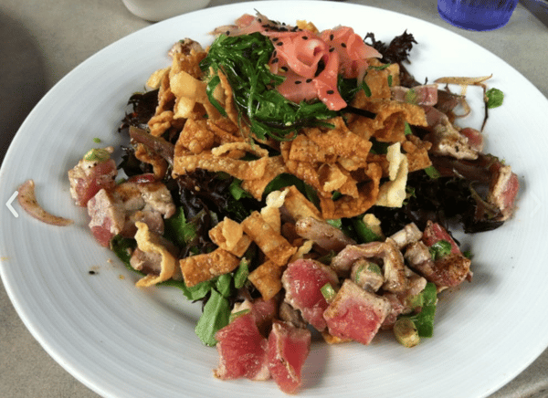 Seared Ahi Poke Salad