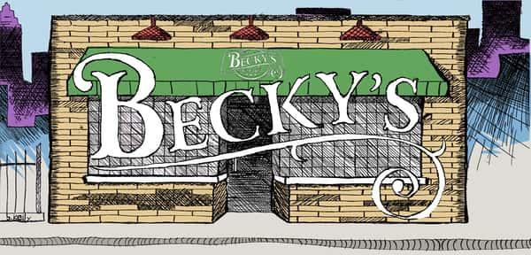 beckys storefront illustration