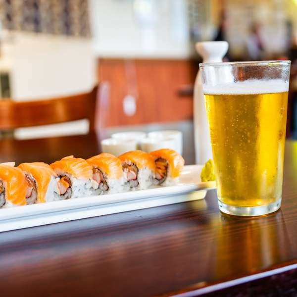 sushi and beer