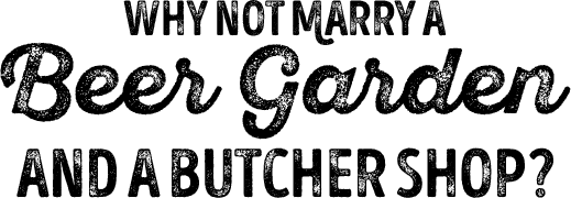 beer garden and butcher shop logo
