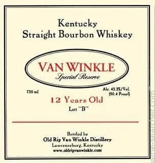 Van Winkle Special Reserve 12 Year