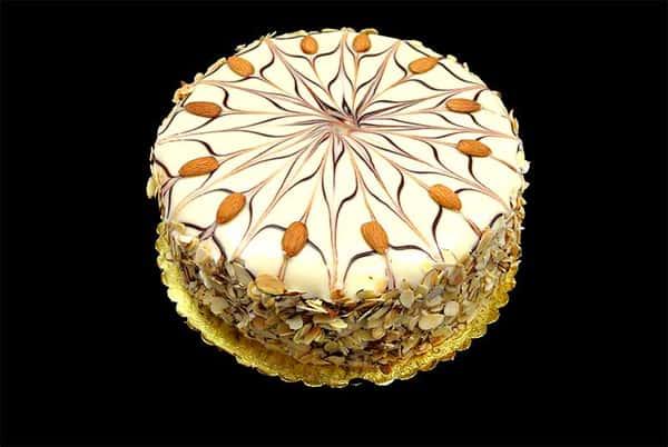 White Chocolate Almond Torte