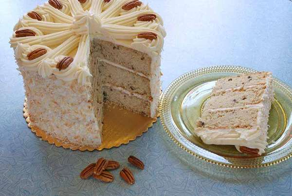 Toasted Pecan Coconut Cake