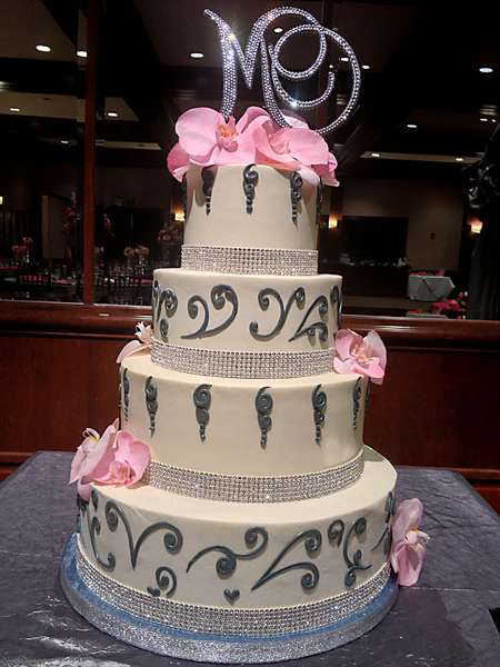 cake with ribbon