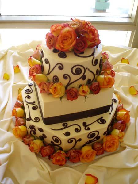 orange rose cake