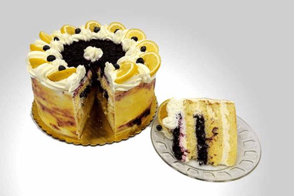 Lemon Blueberry White Chocolate Torte