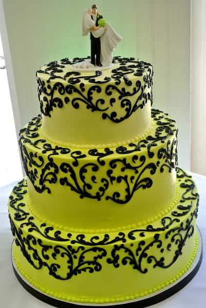 neon yellow cake