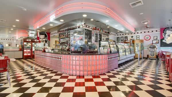 pink diner interior