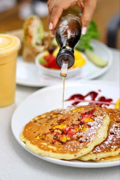 Orange Raspberry Pancakes