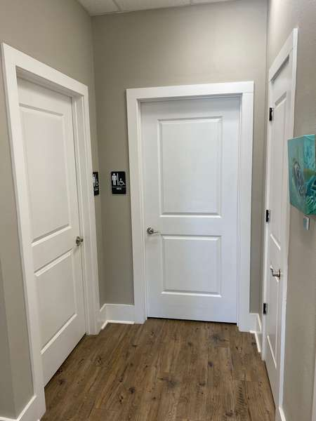 Restroom Hallway.