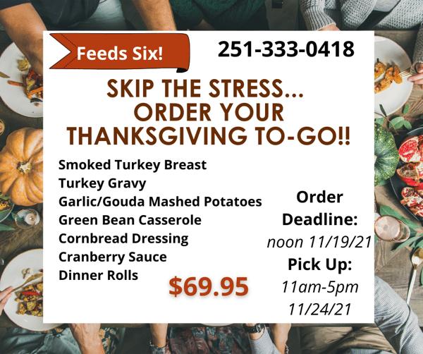 Thanksgiving Pre Order