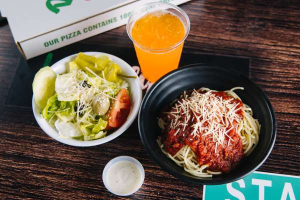 Any Lunch Size Pasta, Side Salad(Garden/Caesar) & Drink