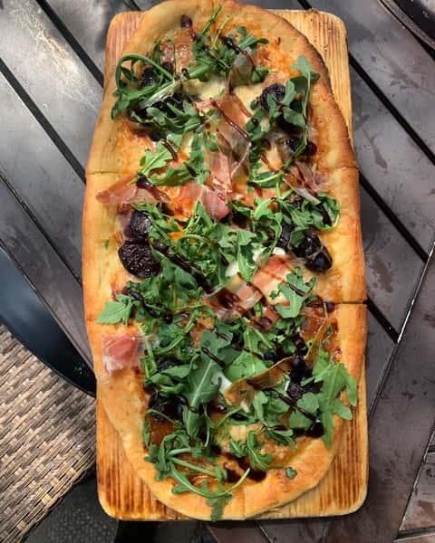 Serrano Ham, Figs, Mozzarella & Arugula
