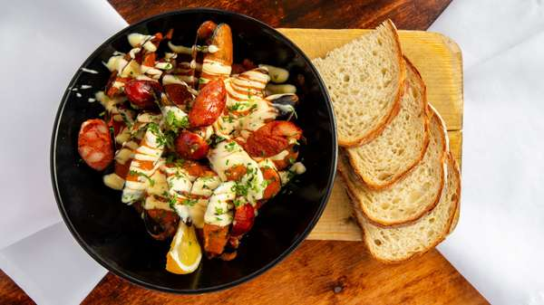 Mussels w/Grilled Chorizo