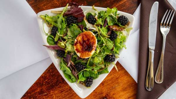 Caramelized Goat Cheese w/Blackberries