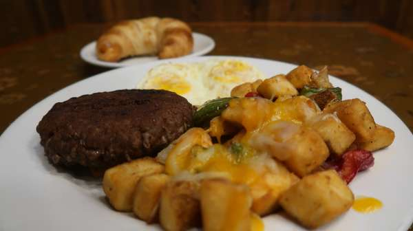 Bison Burger Patty & 2 Eggs