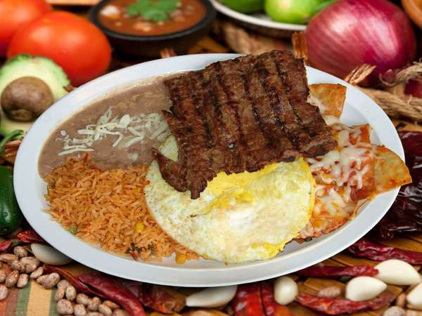 #19 Chilaquiles with Steak