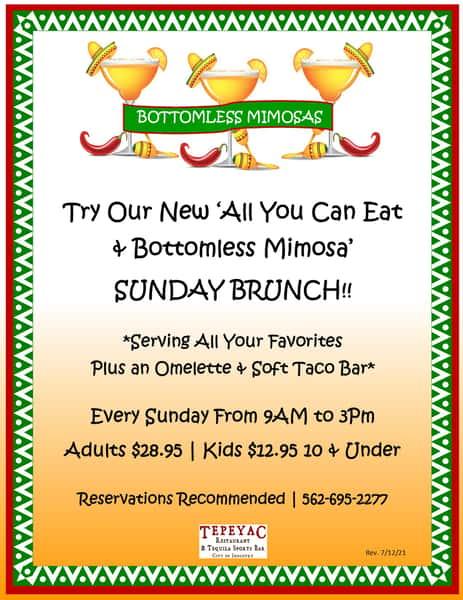 flyer celebrating brunch