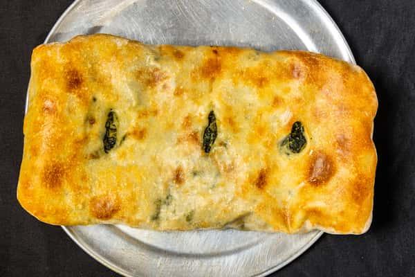 Spinach and Mozzarella Calzone
