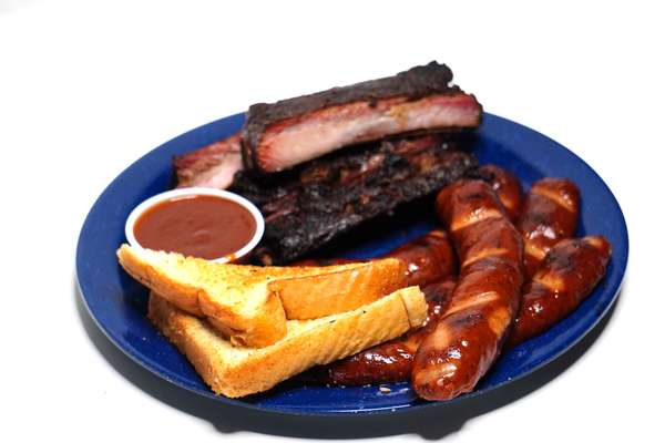 Rib and Hot Link Dinner