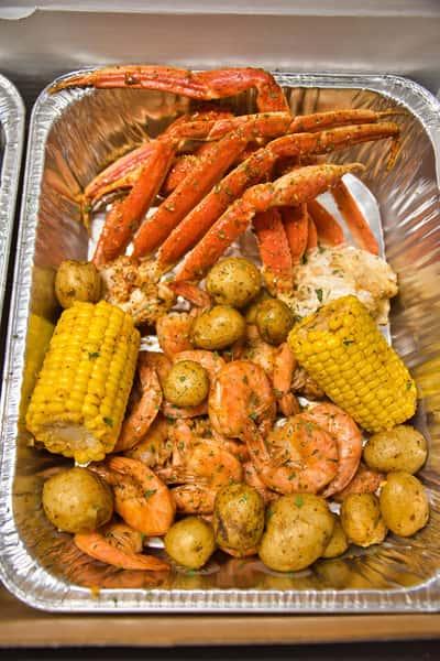 shrimp and crab legs