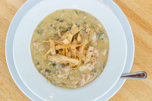 Frank Sr.'s Creamy Green Chile Chicken Soup