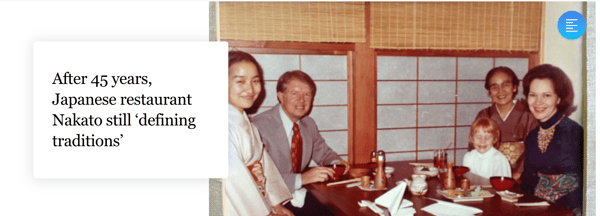 Tetsuko Nakato with Jimmy Carter and his family