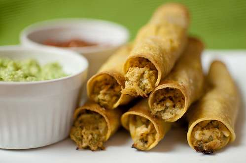 Chicken Taquitos with Salsa Dipping Sauce